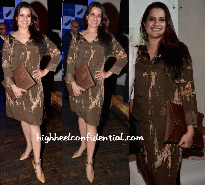 Sona Mohapatra In Label Ritu Kumar At Kajariya Screening And At Couture Cabana In Savio Jon-2