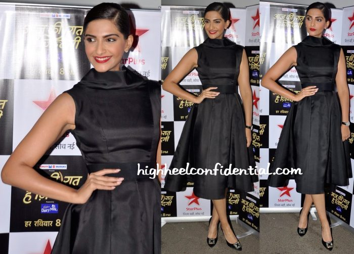 Sonam Kapoor Wears Ashi Studio To Aaj Ki Raat Hai Zindagi Sets-1