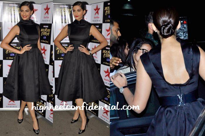 Sonam Kapoor Wears Ashi Studio To Aaj Ki Raat Hai Zindagi Sets-2