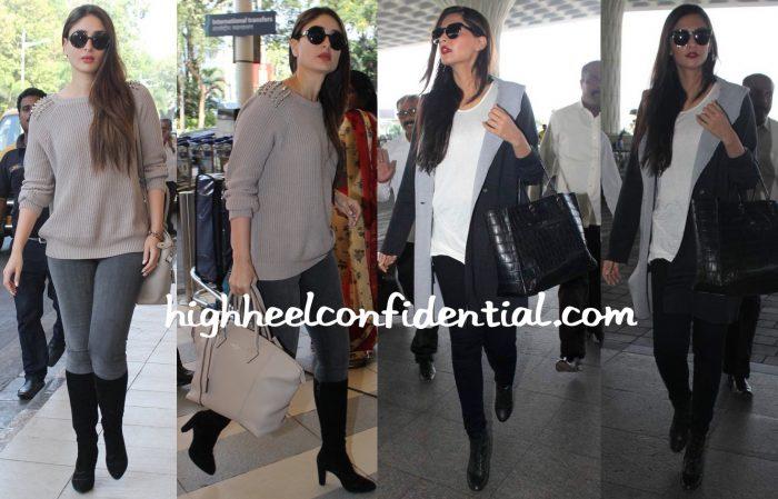 Travel(v)ogue- Kareena Kapoor And Sonam Kapoor Photographed At The Airport-2