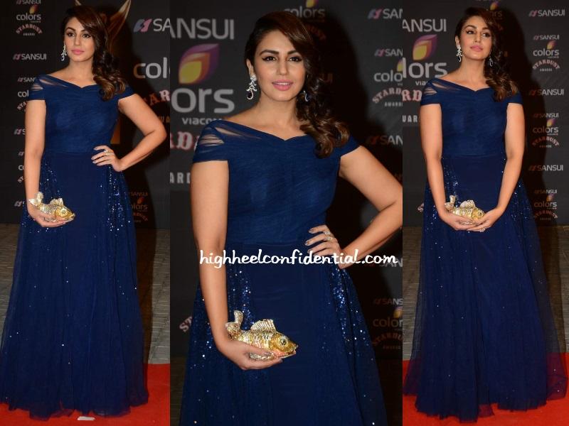huma-qureshi-deepankshi-reena-stardust-awards-2015