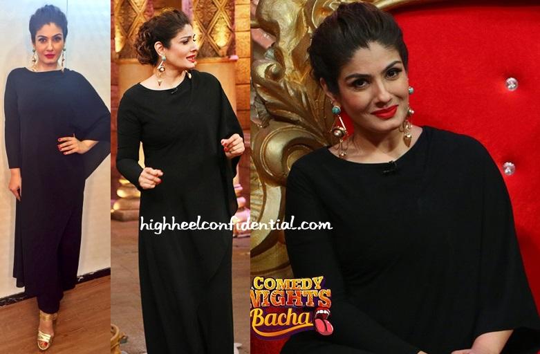 raveena-tandon-bhaavya-bhatnagar-comedy-nights-bachao