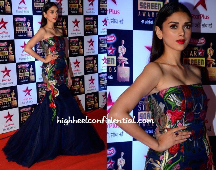 Aditi Rao Hydari In Gaurav Gupta At Star Screen Awards 2016-2