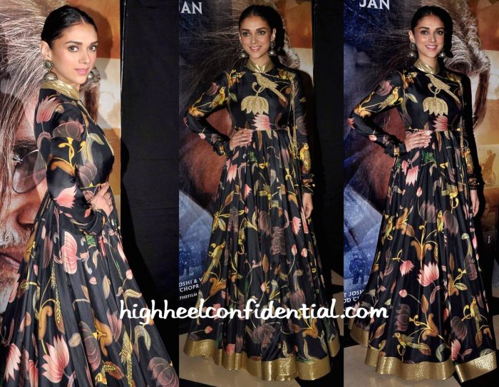 Aditi Rao Hydari In Rohit Bal At Wazir Screening-1
