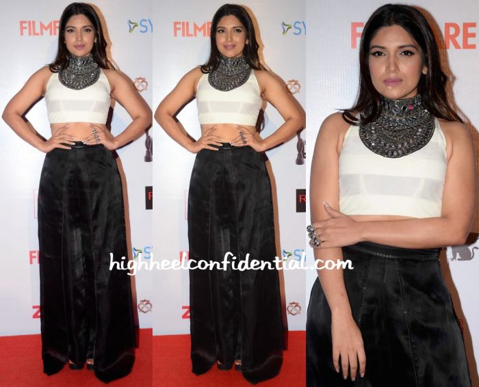 Bhumi Pednekar In Roshni Chopra Design And Am-Pm At Filmfare Pre-Awards Party 2016-2
