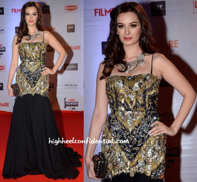 Evelyn Sharma In Gavin Miguel At Filmfare Awards 2016-1