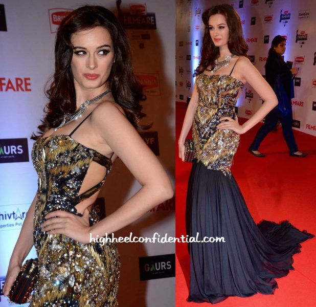 Evelyn Sharma In Gavin Miguel At Filmfare Awards 2016-2