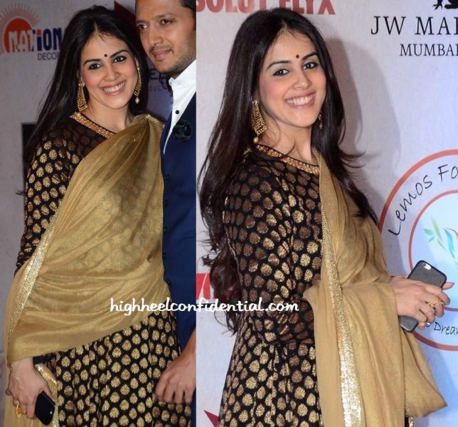 Genelia D'Souza In Vikram Phadnis At The Designer's 25th Anniversary Show-2