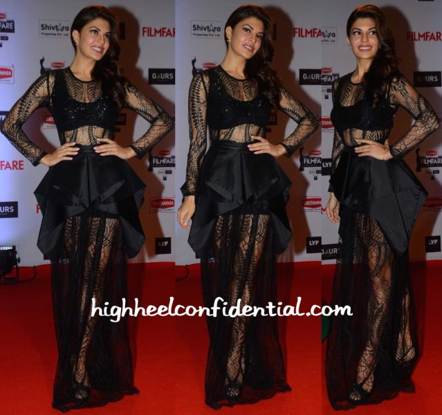Jacqueline Fernandez In Hussein Bazaza At Filmfare Awards 2016-2
