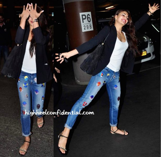 Jacqueline Fernandez (In Stella McCartney) Photographed At The Airport-1