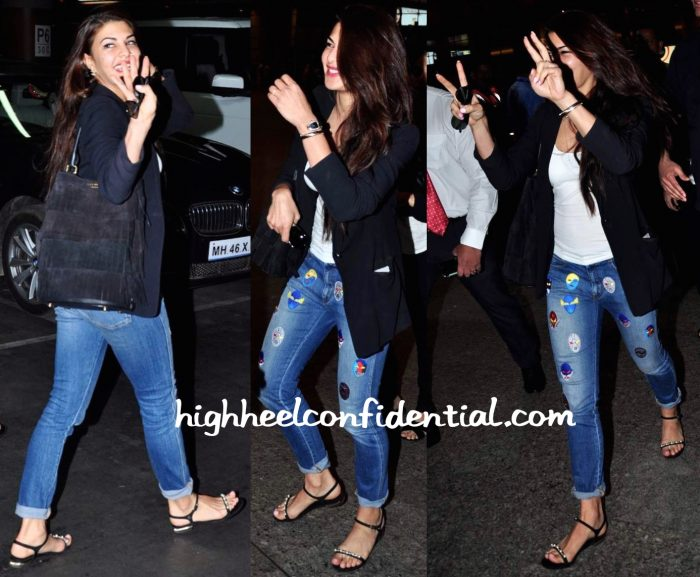 Jacqueline Fernandez (In Stella McCartney) Photographed At The Airport-2