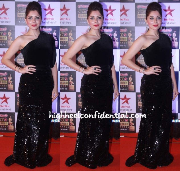 Kanika Kapoor In Cherie D By Sherina Dalamal At Star Screen Awards 2016