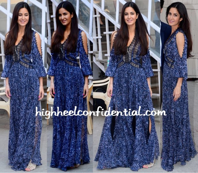 Katrina Kaif In Rebecca Taylor At Fitoor Promotions-2