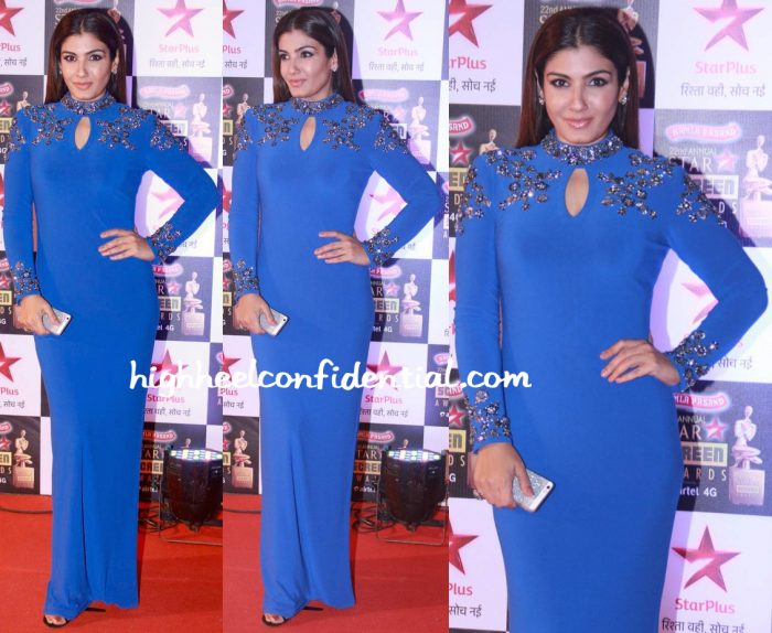 Raveena Tandon In Namrata Joshipura At Star Screen Awards 2016