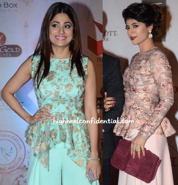 Shamita Shetty And Tahira Kashyap In Vikram Phadnis At The Designer's 25th Anniversary Show-2