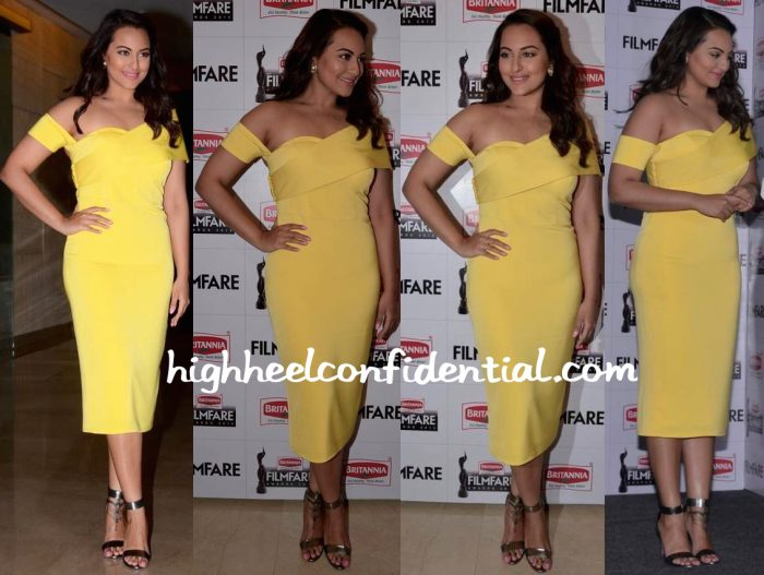 Sonakshi Sinha In Rutu Neeva At Filmfare Awards Press Conference-2