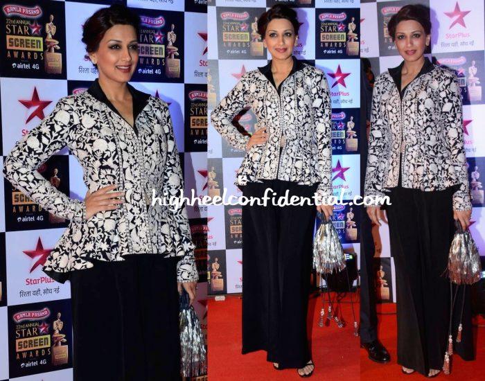 Sonali Bendre In Pankaj And Nidhi At Star Screen Awards 2016-2
