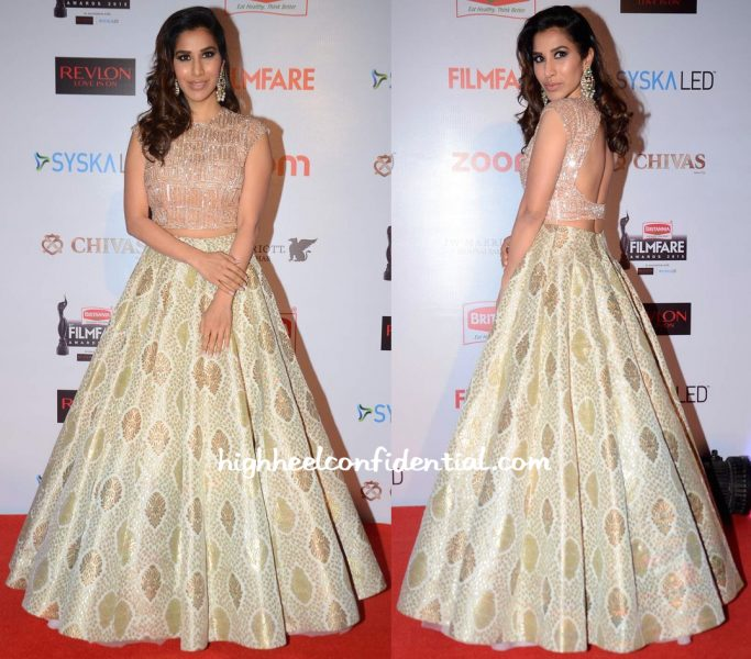 Sophie Choudry In Manish Malhotra At Filmfare Pre-Awards Party 2016-1