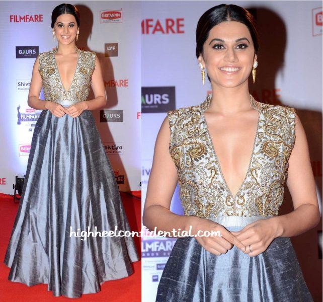 Taapsee Pannu In Harshita Deshpande At Filmfare Awards 2016-1