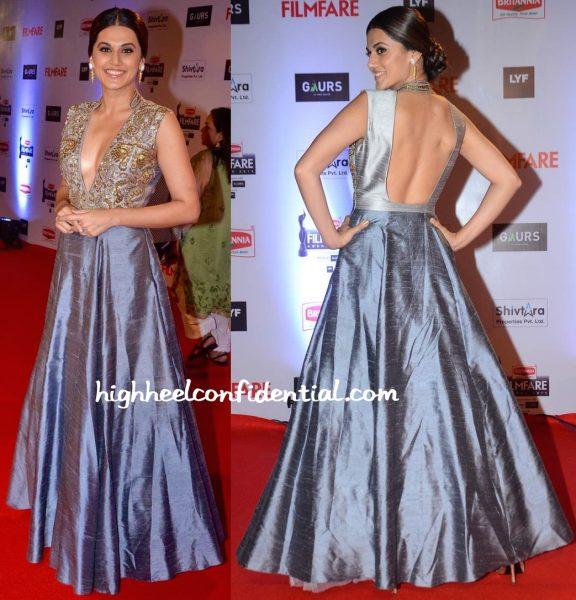 Taapsee Pannu In Harshita Deshpande At Filmfare Awards 2016-2