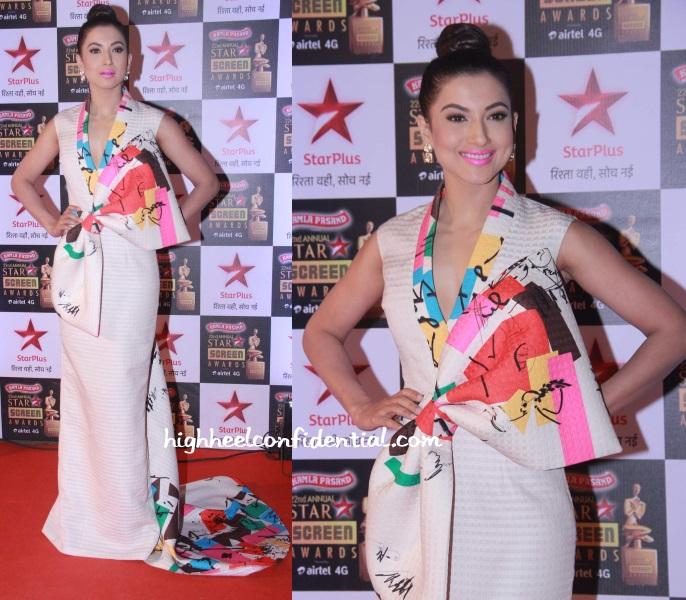 gauahar-khan-tanieya-khanuja-star-screen-awards-2016
