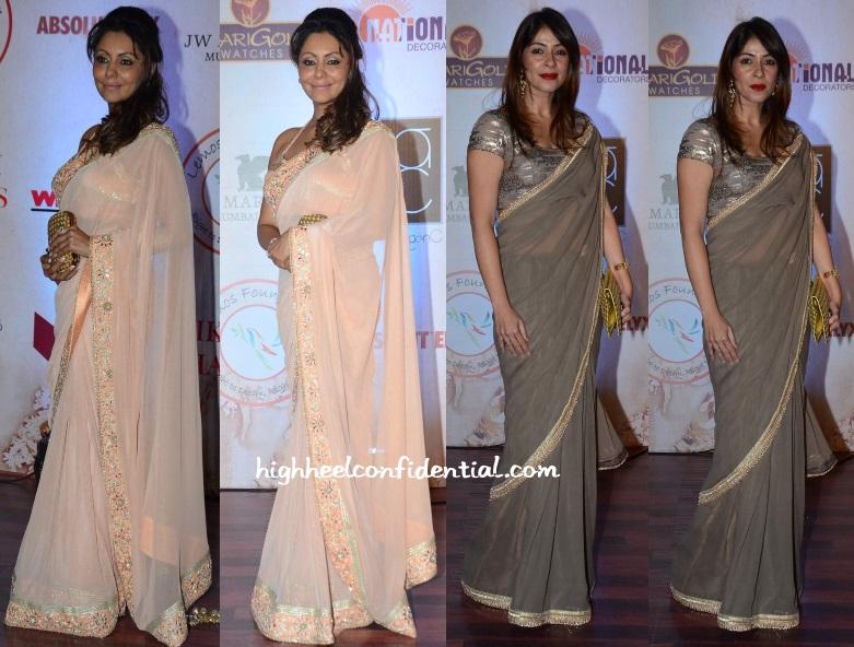 gauri-khan-bhavana-pandey-vikram-phadnis-25th-anniversary-fashion-show