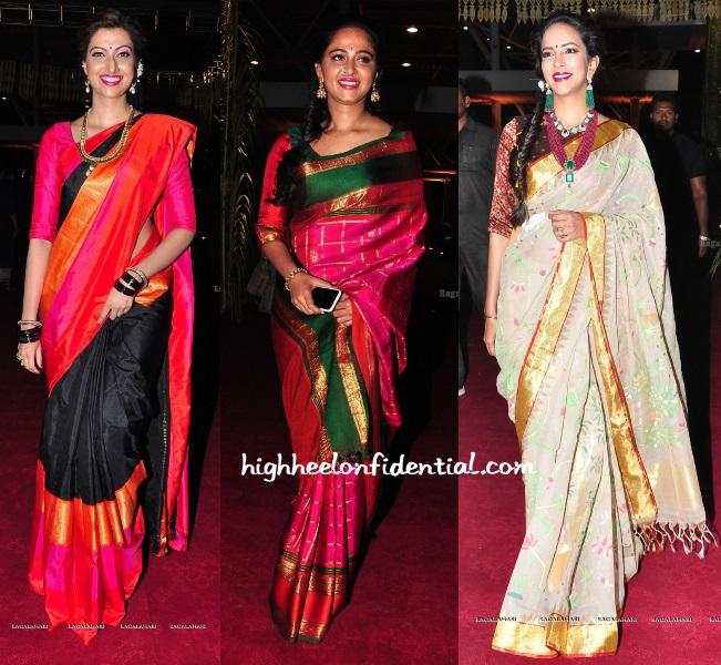 hamsa-anushka-lakshmi-half-saree-function