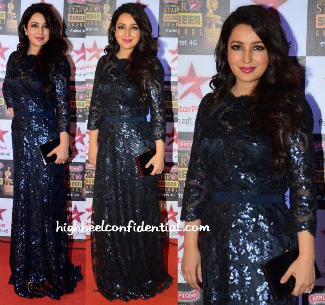 tisca chopra at star screen awards 2016