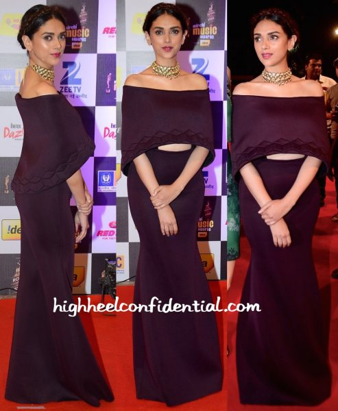 Aditi Rao Hydari In Sana Barreja At Mirchi Music Awards 2016-1