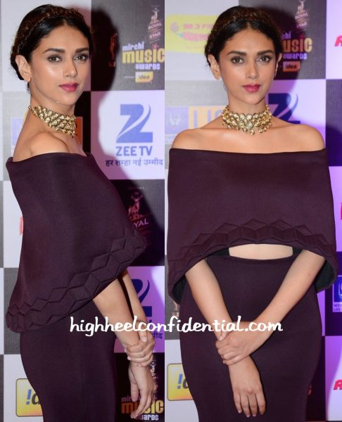 Aditi Rao Hydari In Sana Barreja At Mirchi Music Awards 2016-2