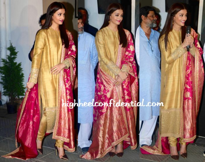 Aishwarya Rai Bachchan In Sabyasachi At 'Sarbjit' Poster Launch-2