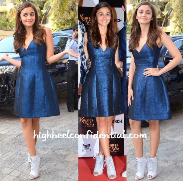 Alia Bhatt In Prabal Gurung At Kapoor And Sons Trailer Launch-2