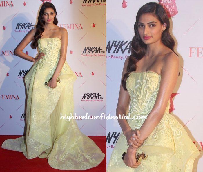 Athiya Shetty In Saiid Kobeisy At Femina Beauty Awards 2016-1