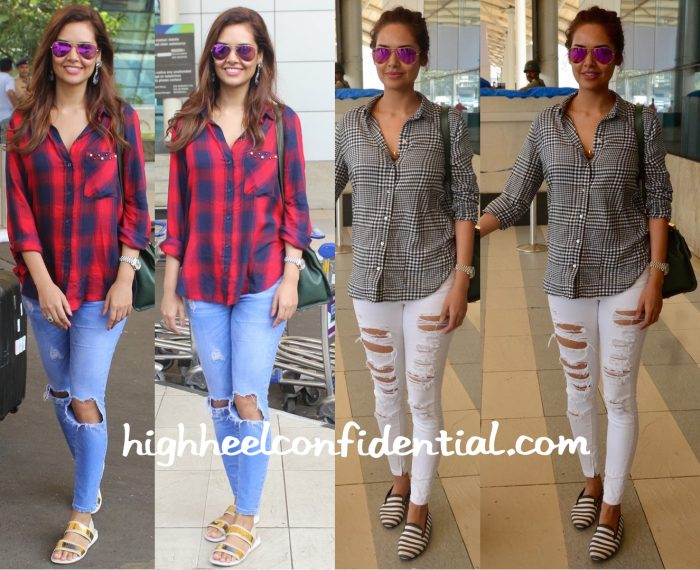 Esha Gupta Photographed At The Airport