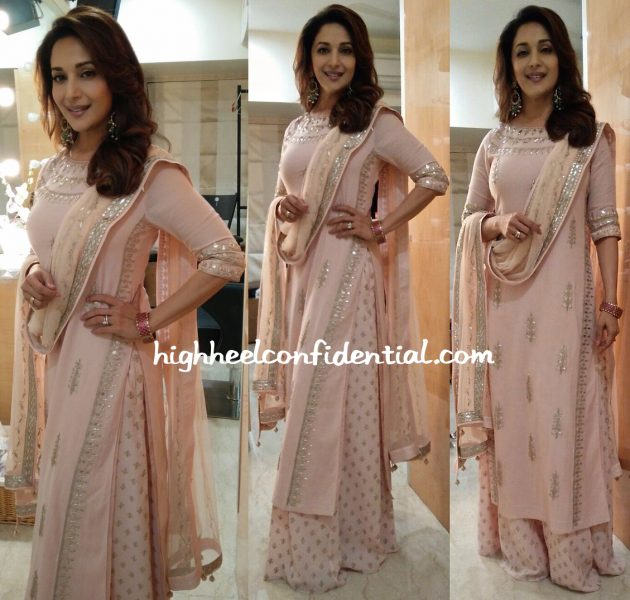 Madhuri Dixit Photographed In Anita Dongre At A Recent Event-1