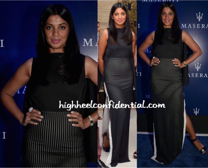 Mugdha Godse In Tanieya Khanuja At Maserati Showroom Launch
