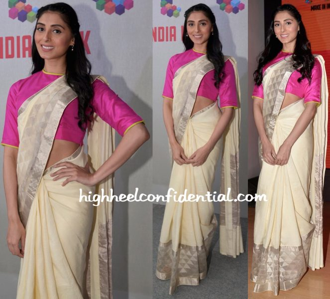 Pernia Qureshi Wears Raw Mango To Make In India Event
