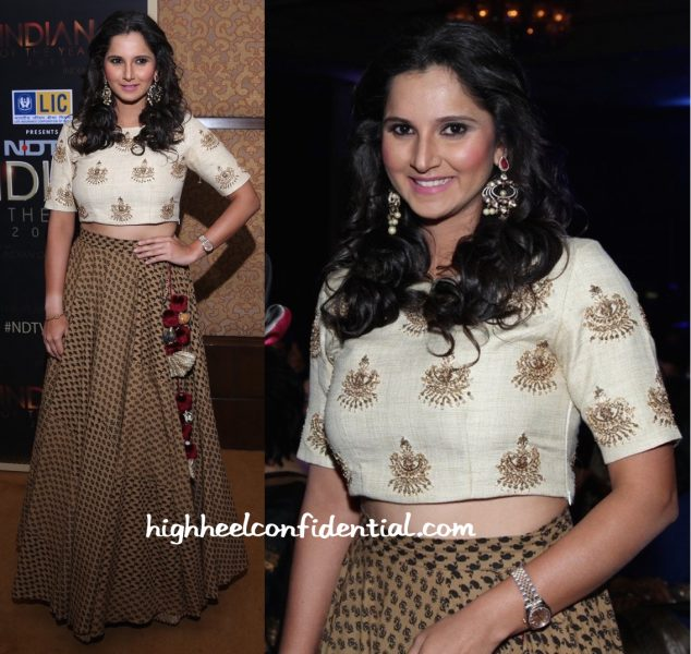 Sania Mirza Wears Natasha J To NDTV Indian Of The Year Event-1