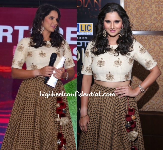 Sania Mirza Wears Natasha J To NDTV Indian Of The Year Event-2