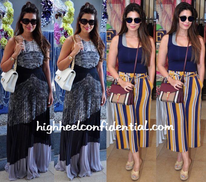 Shaheen Abbas Photographed At A Brunch (In BCBG) And At Araaish 2016