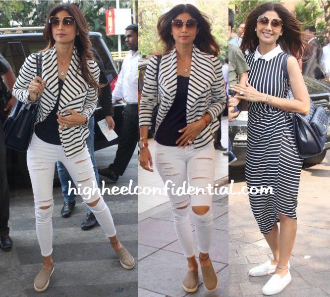 Shilpa Shetty At Mumbai Airport And At Arpita Khan's Baby Shower-1