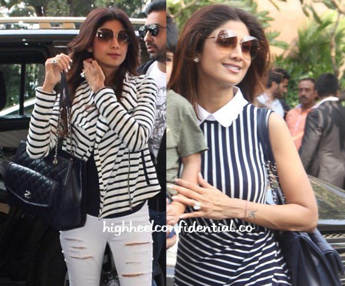 Shilpa Shetty At Mumbai Airport And At Arpita Khan's Baby Shower-2
