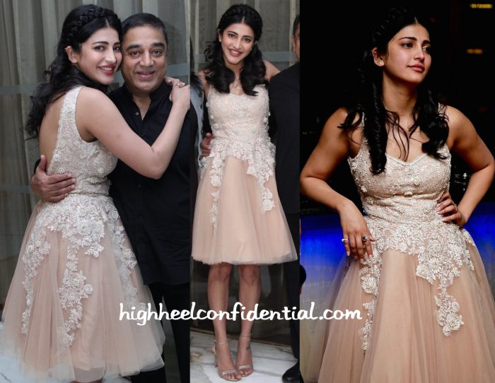 Shruti Haasan Wears Mayyur Girotra To Her Birthday Do