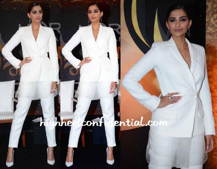 Sonam Kapoor In Antonio Berardi At L'Oréal Women Of Worth Press Meet-1