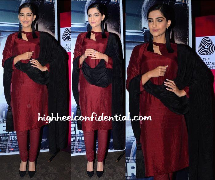Sonam Kapoor Wears Rashmi Varma To Neerja Promotions-1