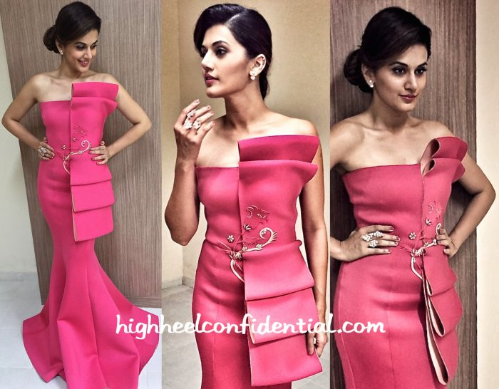 Taapsee Pannu In Tanieya Khanuja At Vanitha Awards 2016-2