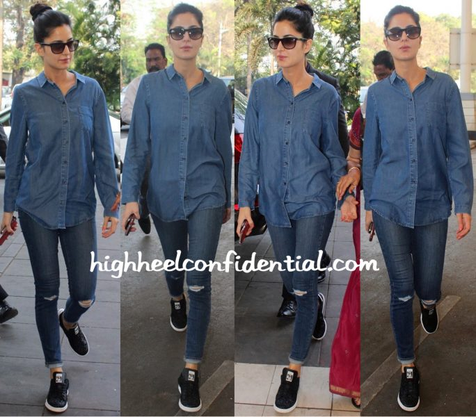 Travel(v)ogue- Katrina Kaif Photographed At Mumbai Airport-1