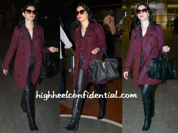 Travel(v)ogue- Tamannaah Bhatia (In Burberry) Photographed At Mumbai Airport-1