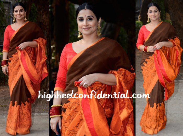 Vidya Balan In Gaurang At The Designer's Exhibition At Kalaghoda-1