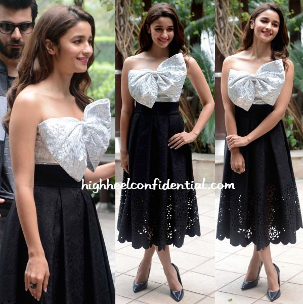 Alia Bhatt Wears Bambah To 'Kapoor And Sons' Promotions-2